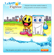 Tupperware facebook Application Water Fighter Game