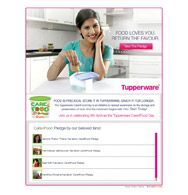 Tupperware facebook campaign care for food