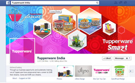 Tupperware India Smart Facebook Page