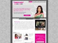 Tupperware website for she can you can campaign